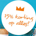 Bestel tijdens de Woonexpress VIP-koopavond met 15% korting op alles!