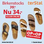 terStal   Alle Birkenstocks met 55% afgeprijsd!