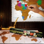 Scoor een wereld kraskaart met -65% korting bij MegaGadgets