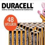 Pak 40% korting bij Telegraaf op 48-Pack Duracell Batterijen