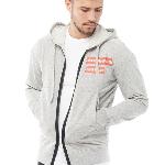Shop de Jack & Jones heren sweat hoodie lichtgrijs nu met €32,- korting   MandMDirect