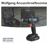 Profiteer bij Telegraaf van 55% korting op een Wolfgang accuschroefboormachine