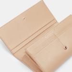 Bestel een Ted Baker Aubray bow flap leren portemonnee met 33% korting