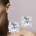 Ontvang 74% korting op diamanten oorstekers bij Bundol
