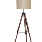 Leenbakker dagaanbieding - €40,- korting op de EGLO vloerlamp in noot/taupe