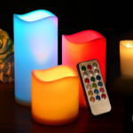 Bij Voordeelvanger bestel je 3 kleurrijke LED kaarsen met 67% korting