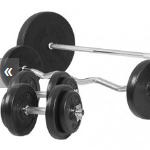 Bestel een Gorilla Sports halterset van 100 kg met 45% korting